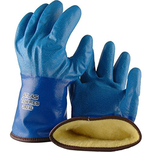Showa Best 282 Atlas TEMRES Insulated Gloves, Waterproof/Breathable TEMRES Technology, Oil Resistant Rough Textured Coating, Acrylic Insulation, Large (1 ()