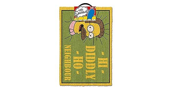 40 x 60 cm The Simpsons Felpudo HI Diddly HO Neighbour