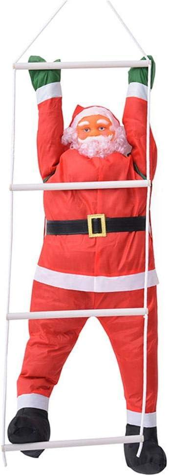 Onlyonehere Weihnachtsdekorationen 60CM Kletterseil Leiter Weihnachtsmann Freien Weihnachtsmann Puppe Anh/änger