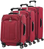 Travelpro Skypro Lite 3-Piece Expandable 8-Wheel Luggage Spinner Set: 29'', 25'', and 21'' (Merlot)