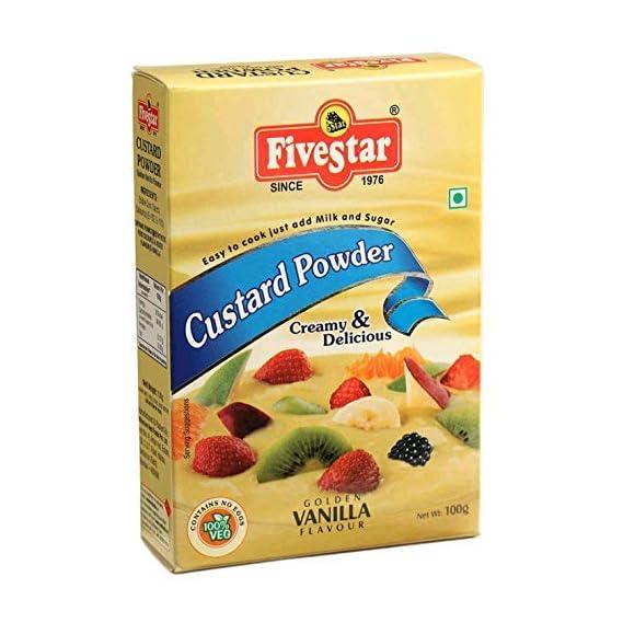 FIVESTAR Custard Powder Vanilla 100g Box Pack of 7