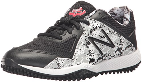 New Balance Boys' TY4040 Turf Baseball Shoe, Black/White, 6 M US Big Kid (All Star Game Cleats)