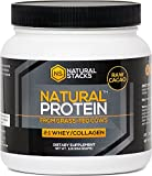Grass Fed Whey Protein Concentrate with Collagen Powder - Fortified with Bovine Colostrum and Contains Full Spectrum of Amino Acids. From 100% Grass-Fed Cows. (Cacao)- 1 lbs(454 g)