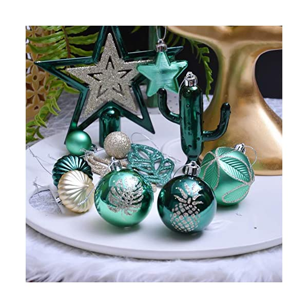 3-10 cm di Strada di Campagna Rosso Verde e Oro Infrangibile Ornamenti di Palla di Natale Valery Madelyn Palle di Natale 70 Pezzi di Palline di Natale