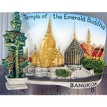 Emerald Budda Temple Bangkok Thailand Thai Resin 3d Fridge Manget