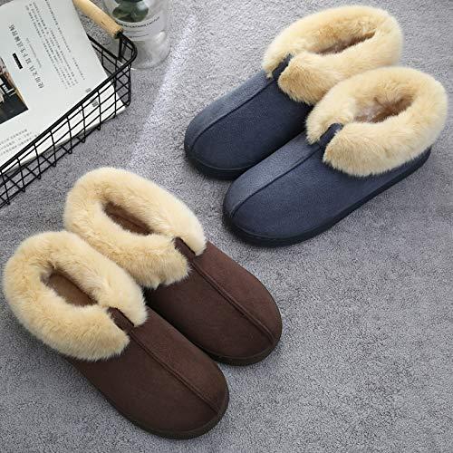 Fuwux Size Pelliccia Spesso Pantofole Blue Con Home Inverno Femminile Fondo Paio Antiscivolo Di Casa Borsa Calda Coperta Cotone color Blue Invernale 2 ZrZqpxwHz