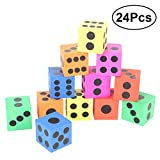 TOYMYTOY 24PCS Big Foam Dice Kids Playing Toy Party Favor Gift for Boys Girls Toddlers