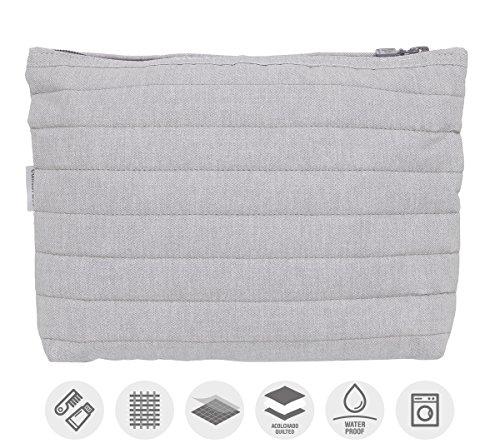 Cambrass Denim - Bolsa de aseo, color gris