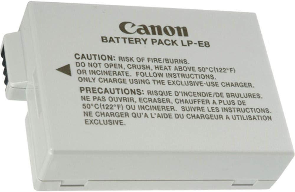 LP-E8 Batería Rercargable para Canon LP E8 Rebel T3i T2i T4i T5i EOS 600D 550D 650D 700D Kiss X5 X4 Kiss X6 LC-E8E
