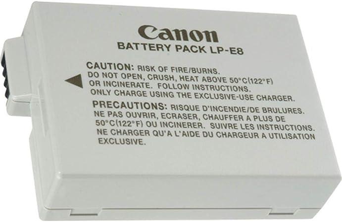 LP-E8 Batería Rercargable para Canon LP E8 Rebel T3i T2i T4i T5i EOS 600D 550D 650D 700D Kiss X5 X4 Kiss X6 LC-E8E: Amazon.es: Electrónica