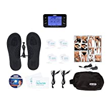 DR-HO'S Pain Therapy System Pro TENS Machine and EMS for Pain Relief and Full Body Pain Management - Basic Package (Includes Travel Foot Therapy Pads, 8 Small Gel Pads, 2 Large Gel Pads, and More)