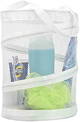 Sunbeam Mesh Laundry Caddy Bag White Amazon Co Uk Kitchen Home
