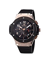 Gosasa Chronograph Black Dial Analog Display Quartz Sports Men's Rose Gold Watch
