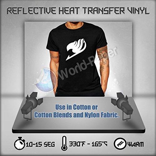 Reflective HTV Heat Transfer Vinyl 10' Roll (5 Feet)