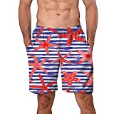 NUWFOR Men Casual 3D Graffiti Printed Beach Work Casual Men Short Trouser Shorts Pants(Z4-Multi Color,US:S Waist26.0-29.9'')