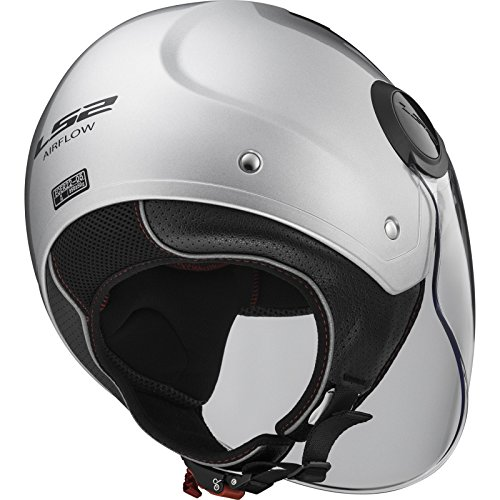 LS2 Airflow L Open Face Motorcycle Helmet Gloss White XXL