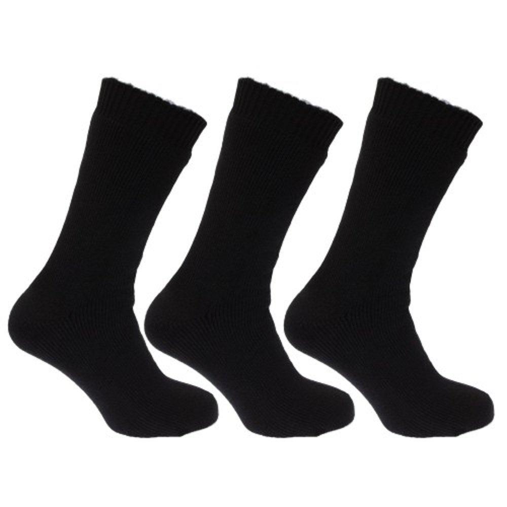 Boys Girls Unisex Cotton Rich School Ankle Socks In Grey And Black Sizes 6-8.5 / 9-12 / 12.5-3.5 / 4-6.5 (9-12, Black)