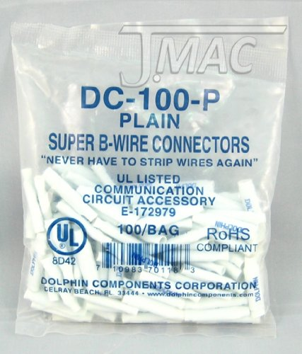 100 Connectors - Dolphin DC-100P Super B Connector 100 Pcs.
