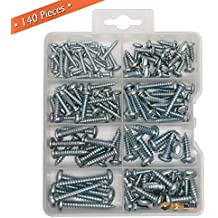 Zinc Plated Steel Sheet Metal Screw 5//8 Length #4-24 Thread Size Phillips Drive Type B Pack of 10000 Pan Head