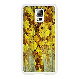 Handmade Autumn Theme Maple Leaf on Wood Pattern Print Hard Cell Phone Cover Plastic Case for Samsung Galaxy S5 I9605 Personalized for Women