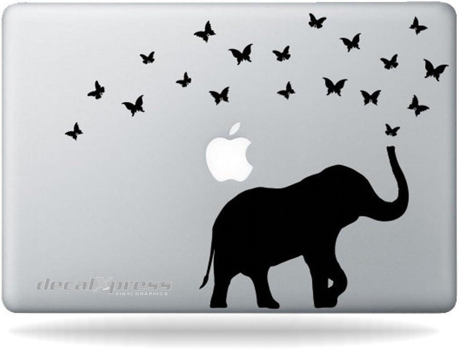 Elephant & Butterflies- Decal Sticker for MacBook, Air, Pro All Models