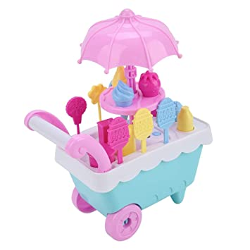 FTVOGUE Los niños fingen Jugar Simulación Mini Carro de Juguete Supermercado Caramelo de Helados con Carrito: Amazon.es: Hogar