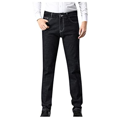 Goddessvan Mens Fashion Casual Denim Straight Trouser Loose ...