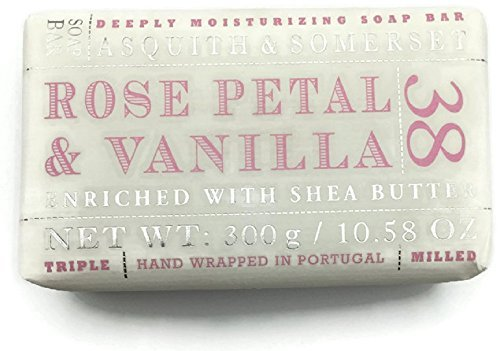 (Asquith & Somerset Rose Petal and Vanilla Triple Milled Luxury Soap - 10.58 oz Large Bar)
