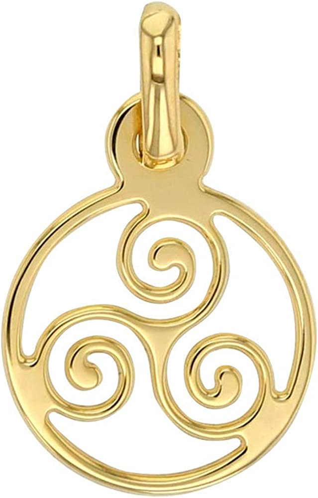 Gold Jouailla Anh/änger Triskele aus 9 Karat 375 396274