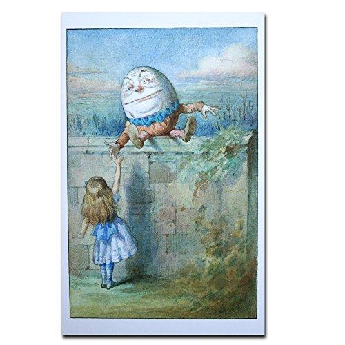 Humpty Dumpty Egg (Alice in Wonderland Genuine Postcard Humpty Dumpty Egg Blue Ribbon Card Gift)