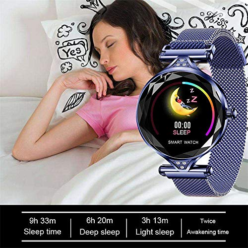 Smart Bracelet Watch, Businda Waterproof Running, Easy to Use, Fitness Tracker Heart Rate Monitor Calorie Activity Tracking Sports Pedometer Smartwatch Long standby time for Boys Girls, Blue by Businda (Image #3)