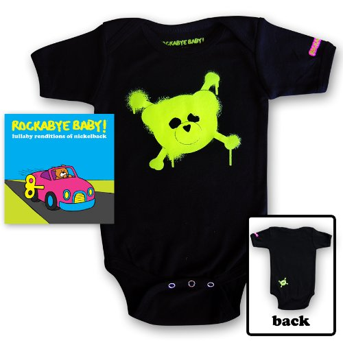 Rockabye Baby! Lullaby Renditions of Nickelback + Organic Baby Bodysuit (Green)