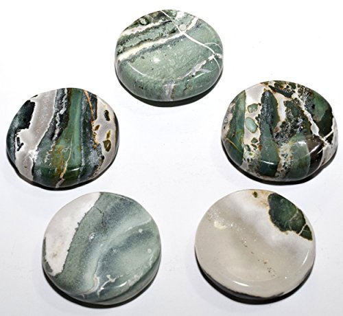 40mm Natural Green White Agate Stand for Sphere/Egg Polished Crystal Mineral Gemstone Specimen - India (1PC)