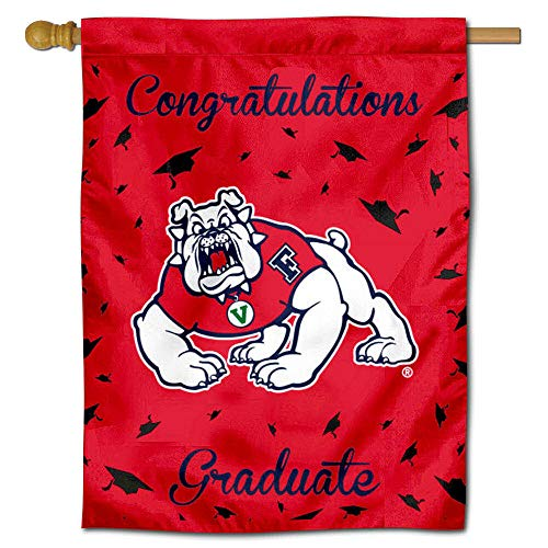 College Flags and Banners Co. Fresno State Bulldogs Graduation Gift Banner Flag