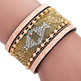 Best Welcomeuni 1340 Of The Bangles - Welcomeuni Women Braided Rope Magnetic Clasp Bracelets Wrist Review
