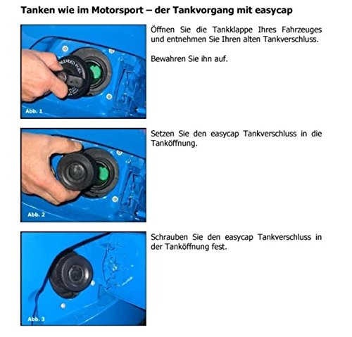 Easycap Rot Tankdeckel Tanken wie in der DTM und Formel 1 Bajonettverschluss