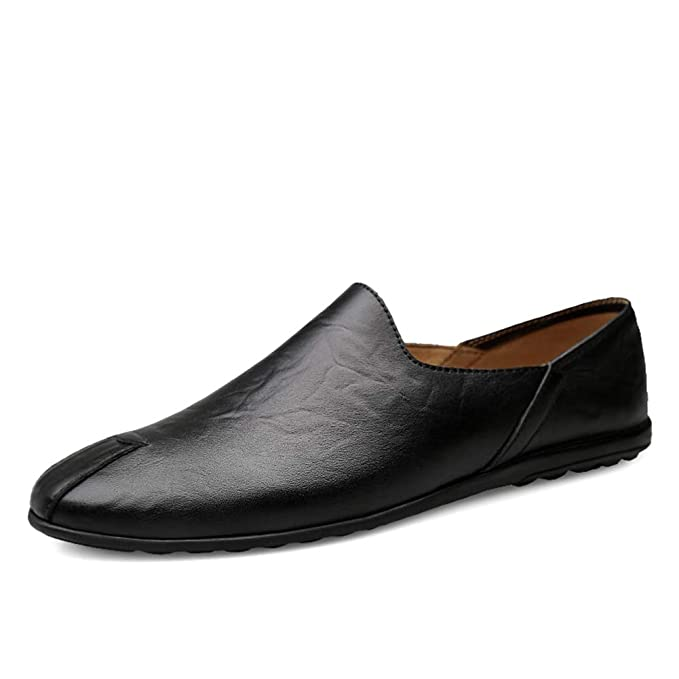Zapato de los hombres, primavera otoño cuero mocasines zapatos moda conducción zapato Wild LOAFERS y