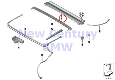 BMW auténtica panorámica techo manual eléctrico Panorama techo estor Everest gris 535i 535ix 550i 550ix 535i