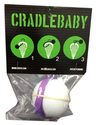 CradleBaby Rubber Lacrosse Ball for Training Indoor, Outdoor, Shooting, Catching (Purple/White)
