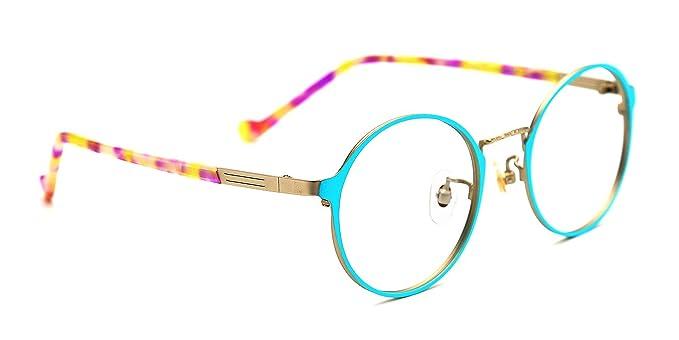 Amazon.com: TIJN Retro Round Metal Frame Thin Optical Eyeglasses Eye ...
