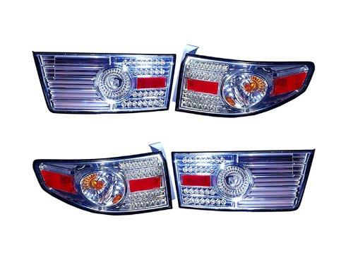 Depo Honda Accord Sedan Hybrid Led Chrome Rear Inner + Outer Tail Light - Tail Accord Honda Depo Led