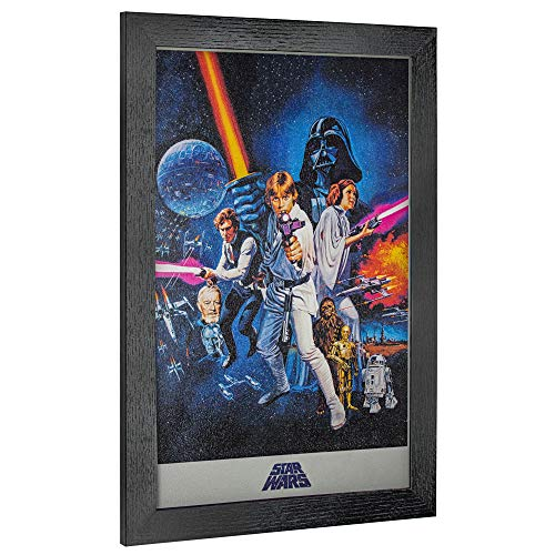 "Officially Licensed Star Wars A New Hope Episode IV Framed Wall Art (19"" H x 13"" L)"