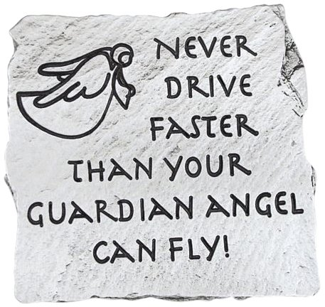 Never Drive Faster Cathedral Art KVC261 Slate Visor Clip 2-Inch