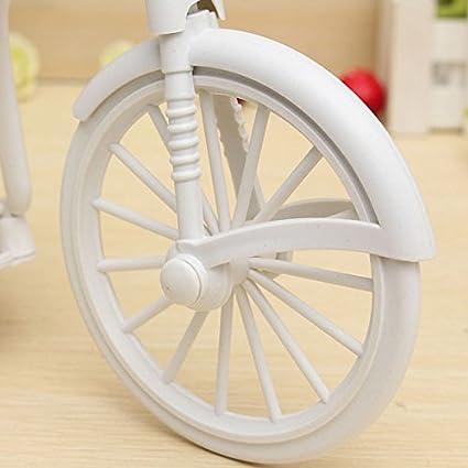 Blanco Bluelover Grande Rota Triciclo Bicicleta Cesta Florero Almacenamiento Partido Decoraci/ón-Morado