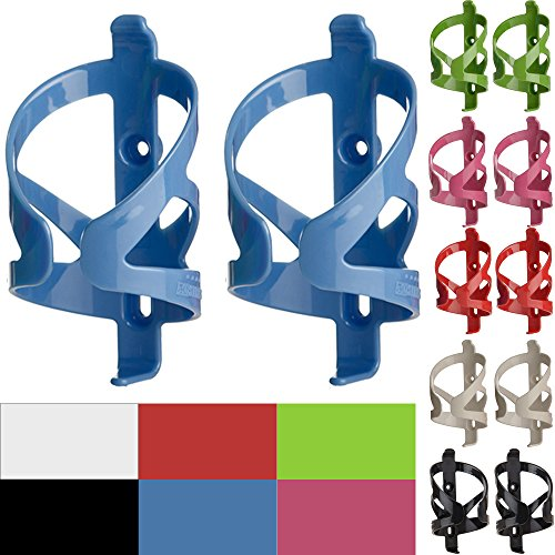 50 Strong Bike Water Bottle Holder 2 Pack – Made in USA – Easy to Install - Durable Bicycle Cage - Blue