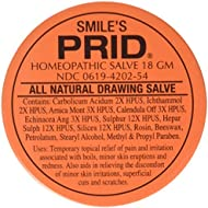Smile's PRID Drawing Salve, Natural Homeopathic Topical Pain and Irritation Reliever, 18 gm