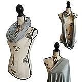 100% Cotton Nursing Cover & Nursing scarf for Breastfeeding Babies - Breastfeeding Scarf - Infinity Nursing Scarf - Solid Design (Gray)
