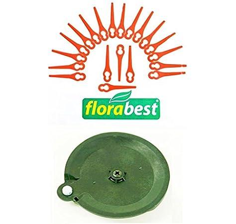 20 Cuchillo & 1 Discos de corte para su flora Best Lidl batería cortabordes Fat 18 B2 Ian 86154 (Plotter Fichas, plástico Cuchillo Cuchillo Chen plaste PA6): Amazon.es: Jardín