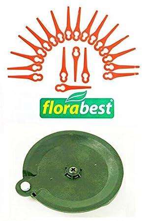 20 Cuchillo & 1 Discos de corte para su flora Best Lidl batería ...