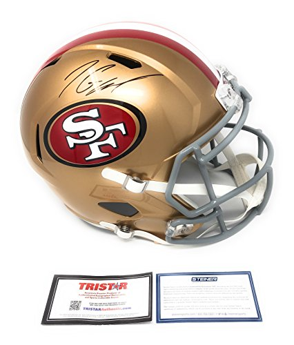 Jimmy Garoppolo San Fransisco 49ers Signed Autograph Full Size Speed Helmet Steiner Sports & Tristar Authentic Certified from Mister Mancave
